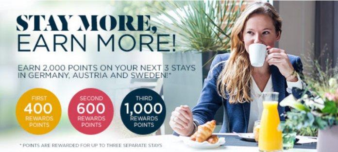 Accorhotels雅高积分活动:入住德国、奥地利和瑞典酒店享高达2000积分奖励(2018/5/31前)
