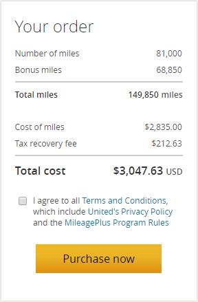 美联航里程促销:购买UA里程(MileagePlus)享85%额外奖励优惠(2018-12-19前)