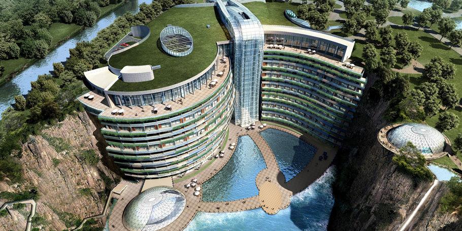 上海佘山世茂洲际酒店(深坑酒店),IHG洲际2018新开业,世界海拔最低的五星级酒店